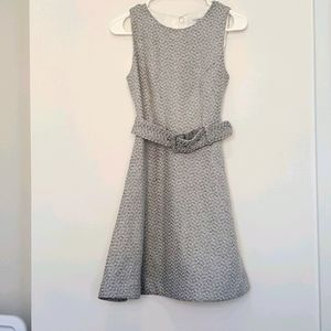 Ever New - Fit and Flare Belted Sleeveless Dress